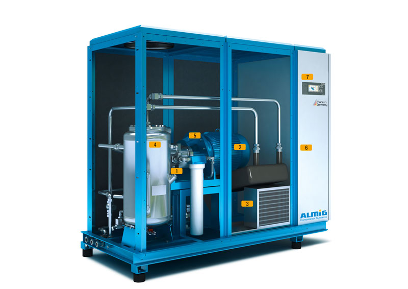 Oilfree screw compressor LENTO - details